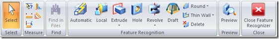 Feature recognizer tool