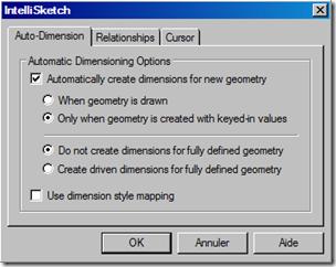 Auto dimension